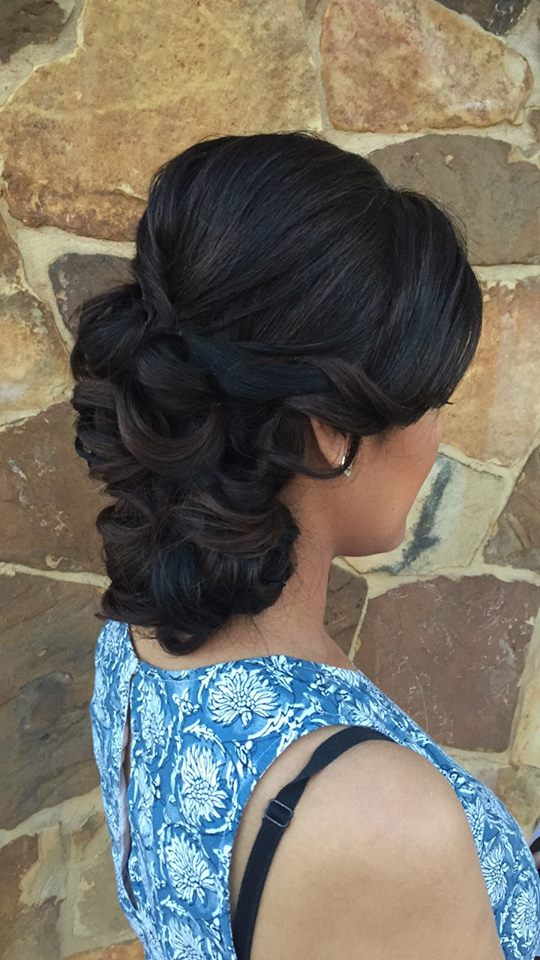 wedding hair, updo