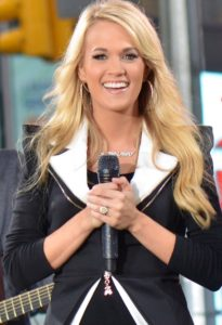 celebrity style oval Carrie Underwood