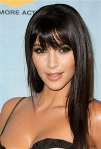 celebrityhair inverted triangle Kim Kardasian